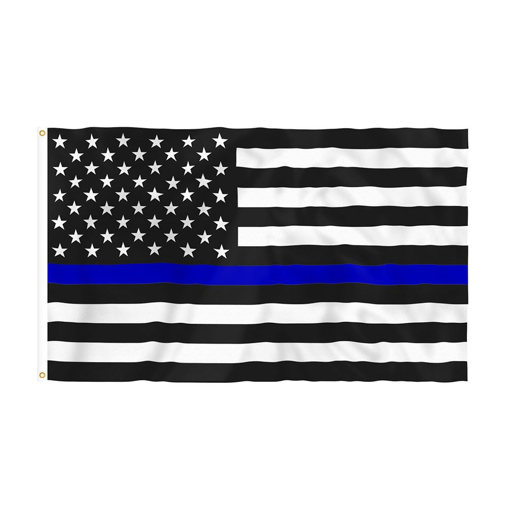 Thin Blue Line Grommeted Flag (3' x 5')