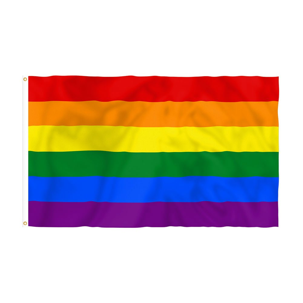 Pride Rainbow Grommeted Flag (3' x 5')