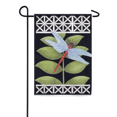 Dragonfly on Black Garden Flag