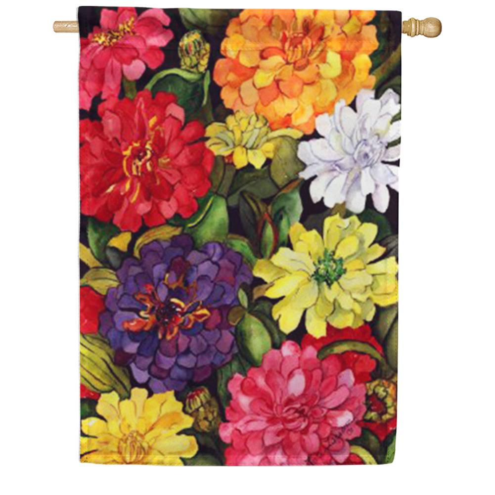 Zippy Zinnias House Flag