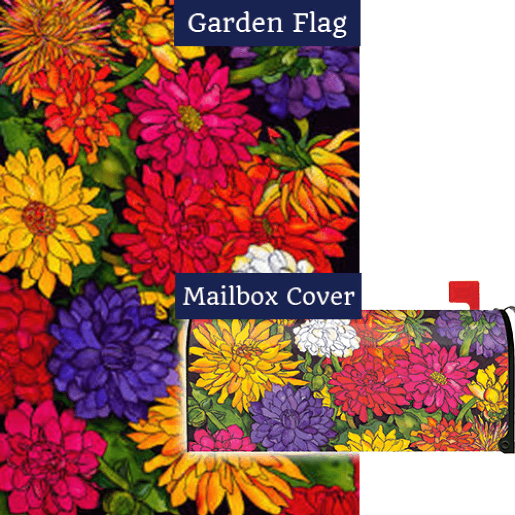 Dizzy Dahlias Flag Mailwrap Set (2 Pieces)