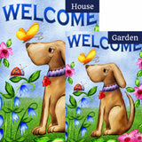 Welcome Dog Flags Set (2 Pieces)