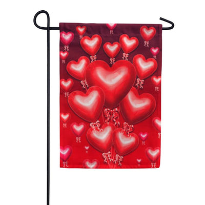 Balloon Hearts Garden Flag