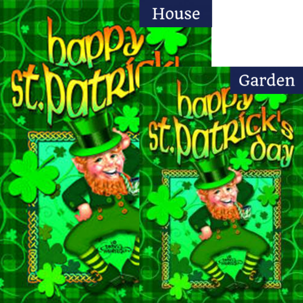 Happy Leprechaun Flags Set (2 Pieces)