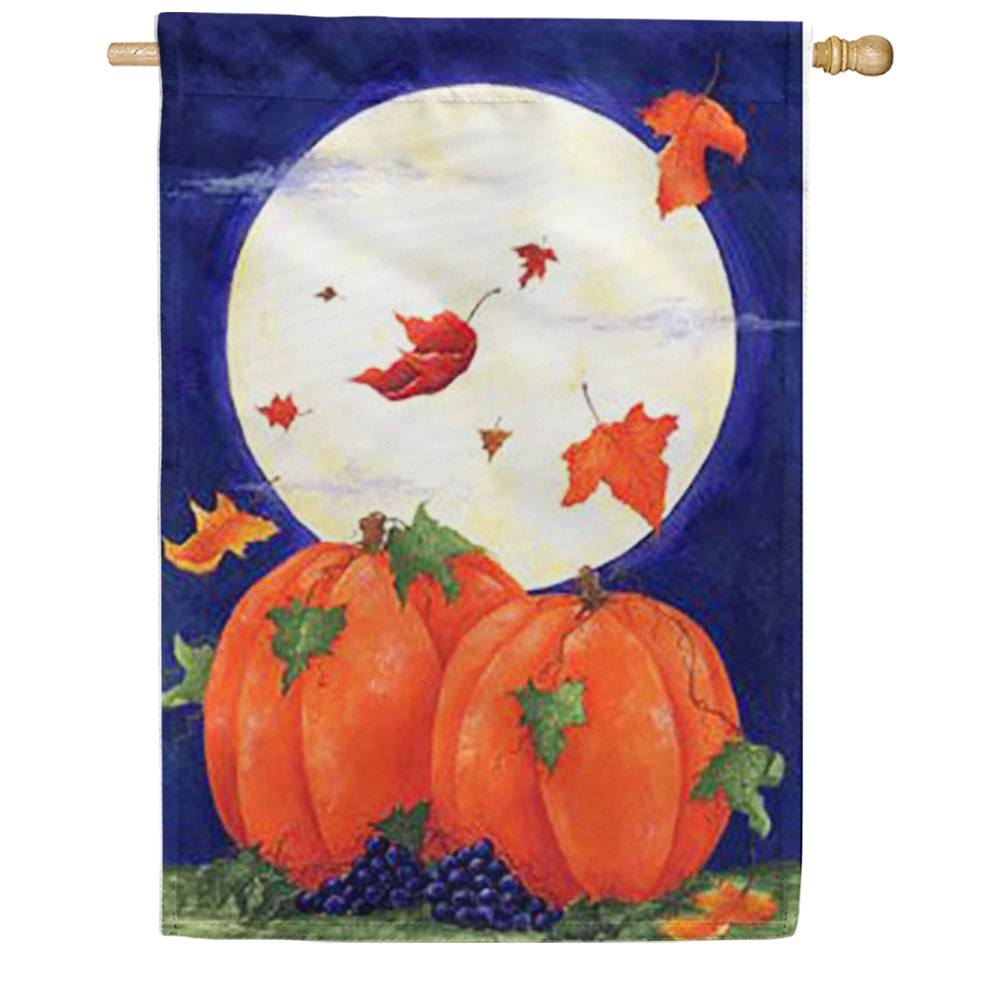 Pumpkin Moon House Flag
