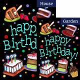 Happy Birthday Cake Flags Set (2 Pieces)