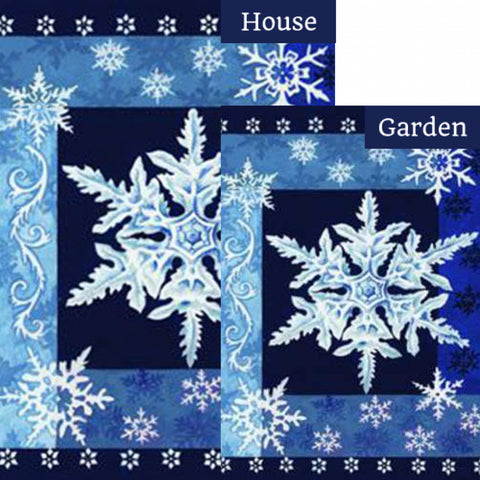 Cool Snowflakes Flags Set (2 Pieces)