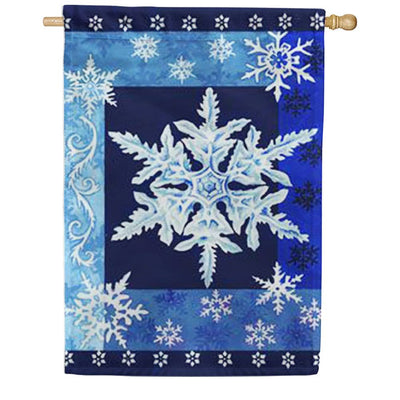 Cool Snowflakes House Flag