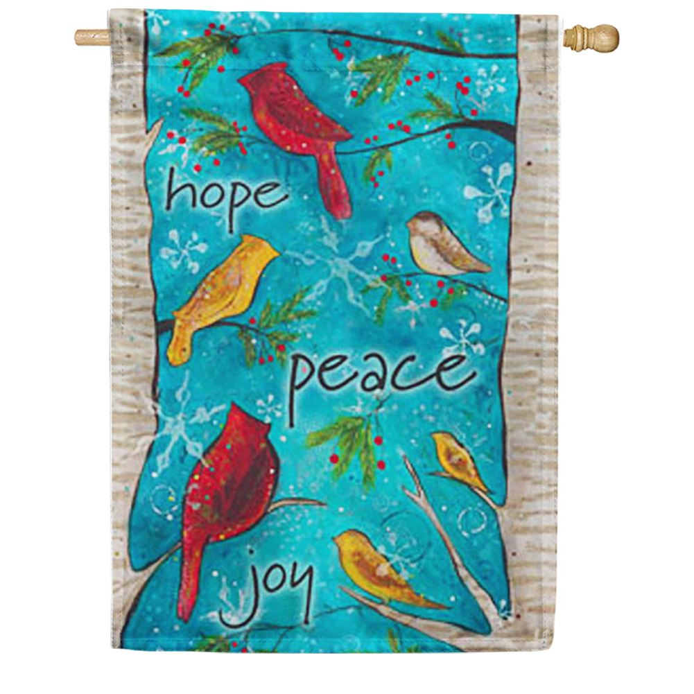 Peace Birds House Flag