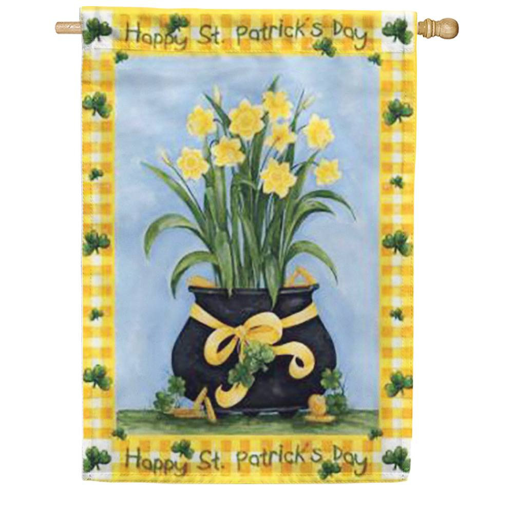 Lucky Daffodils House Flag