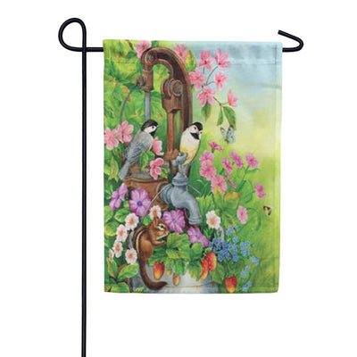 Watering Time Garden Flag