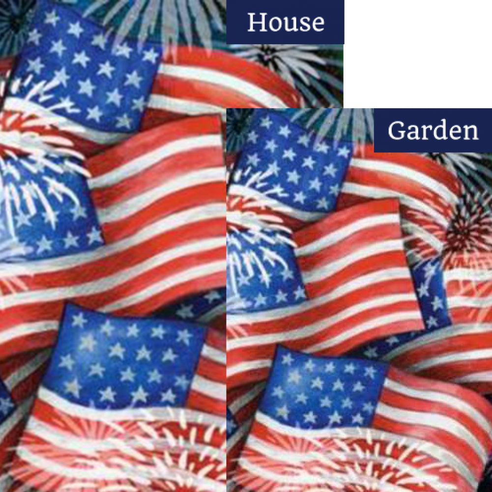 Sparkling Old Glory Flags Set (2 Pieces)