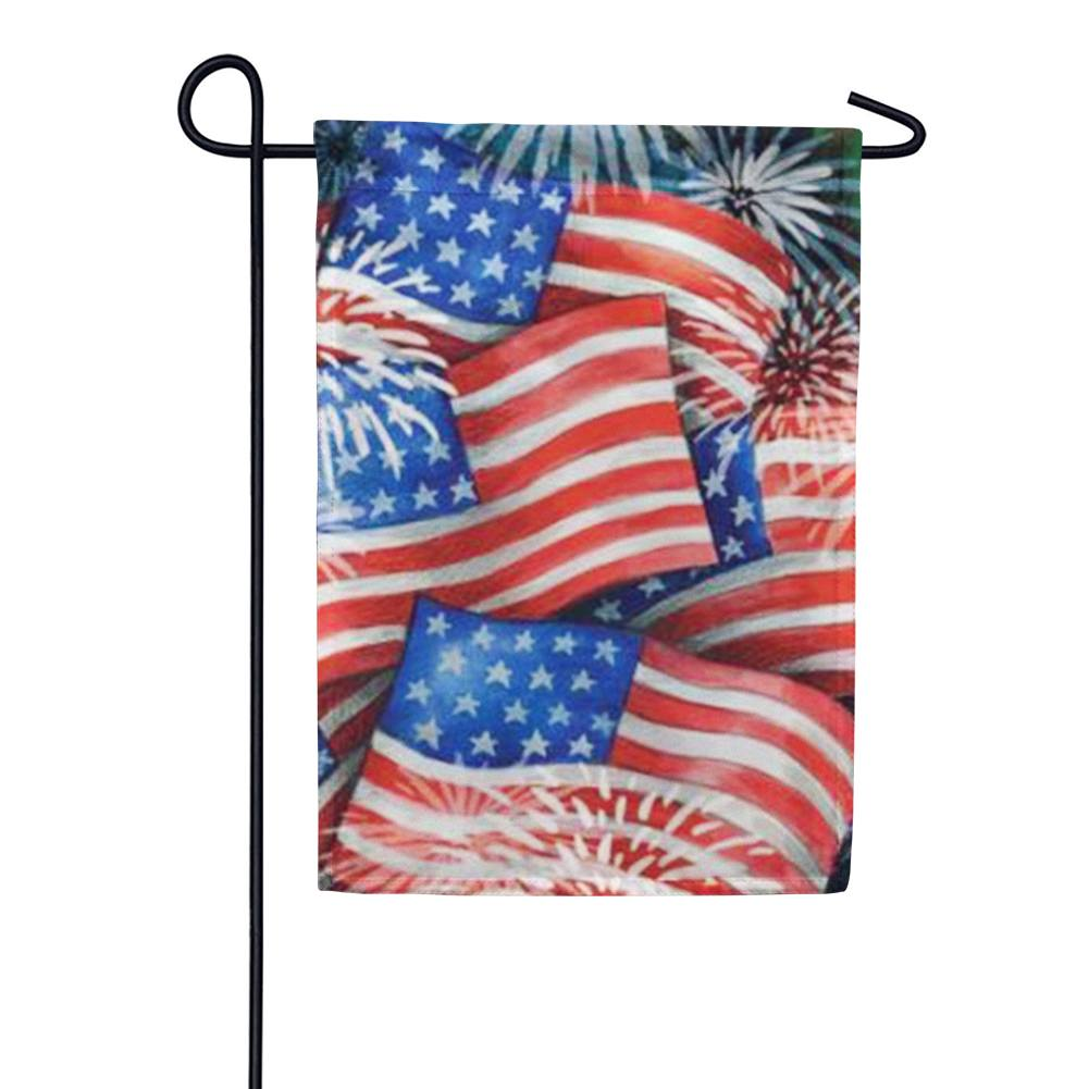 Sparkling Old Glory Garden Flag