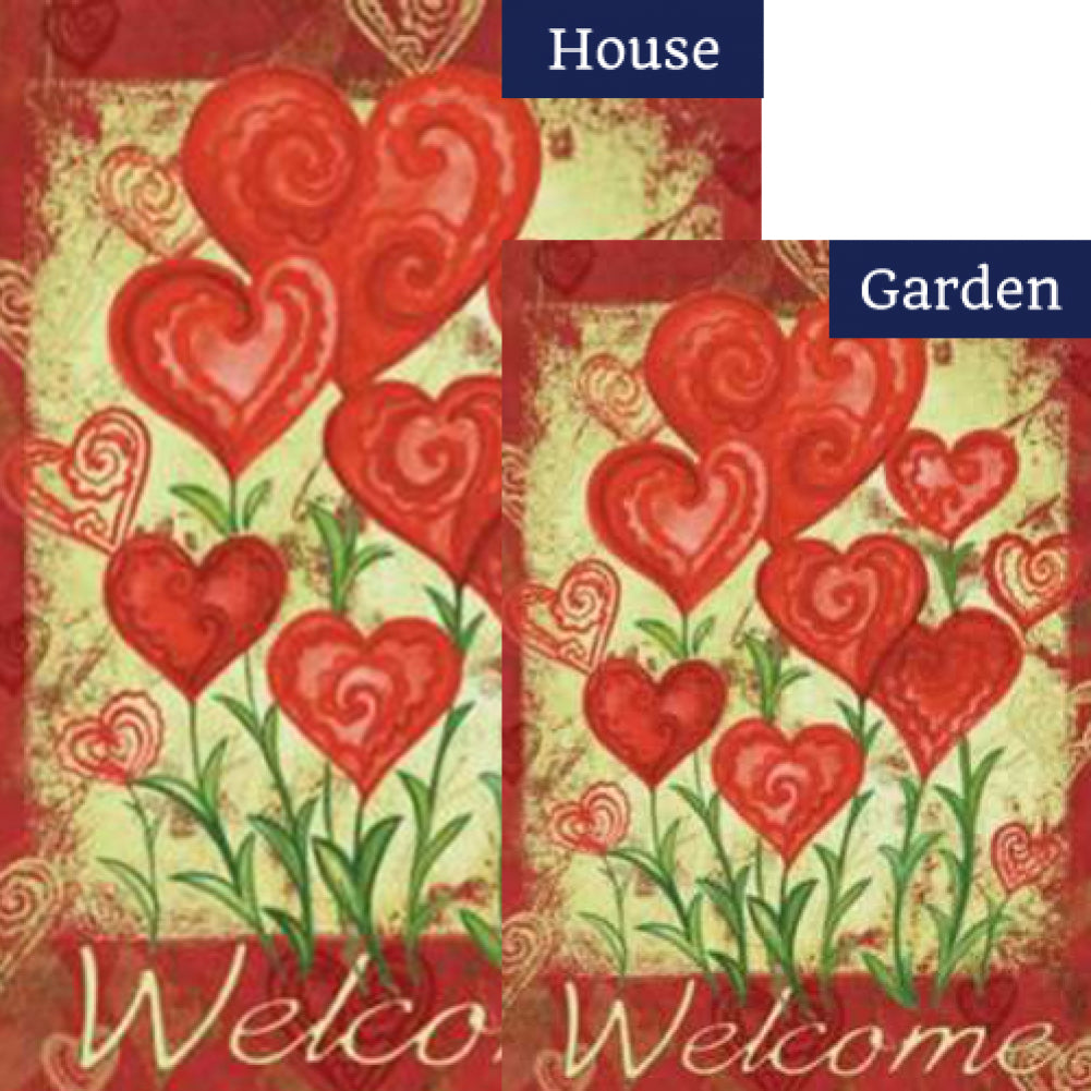 Garden Hearts Flags Set (2 Pieces)