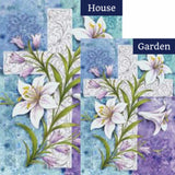 Easter Lilies Flags Set (2 Pieces)