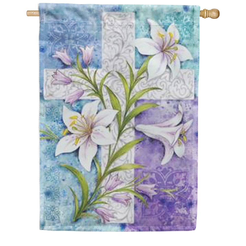 Easter Lilies House Flag