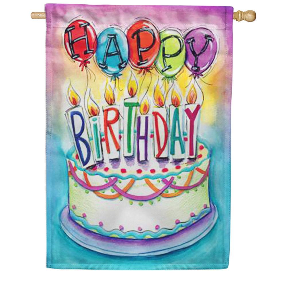 Birthday Wishes House Flag