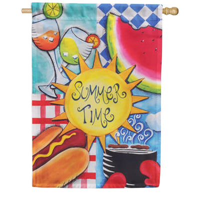 Summer Fun House Flag