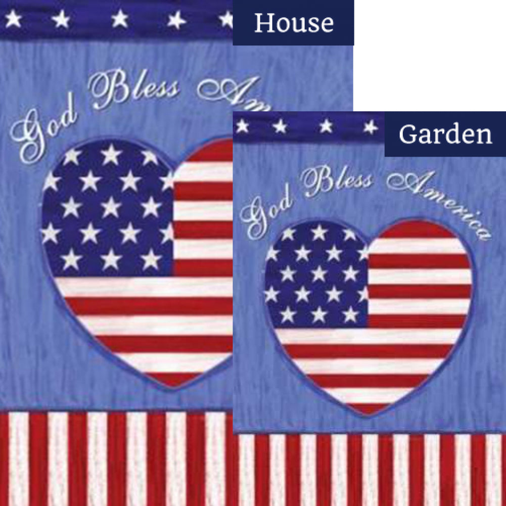 God Bless the US Flags Set (2 Pieces)