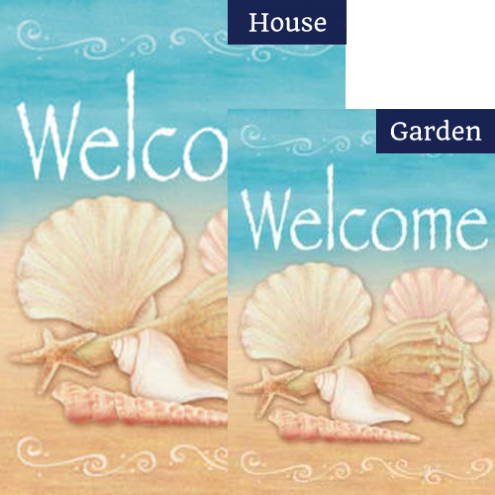 Welcome Shells Flags Set (2 Pieces)