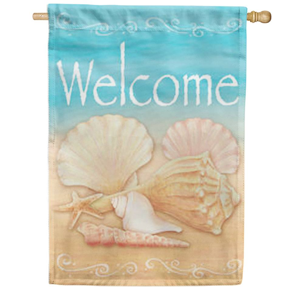 Welcome Shells House Flag