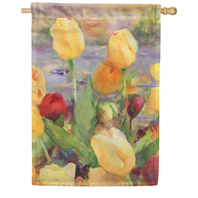 Tulip Gold Double Sided House Flag