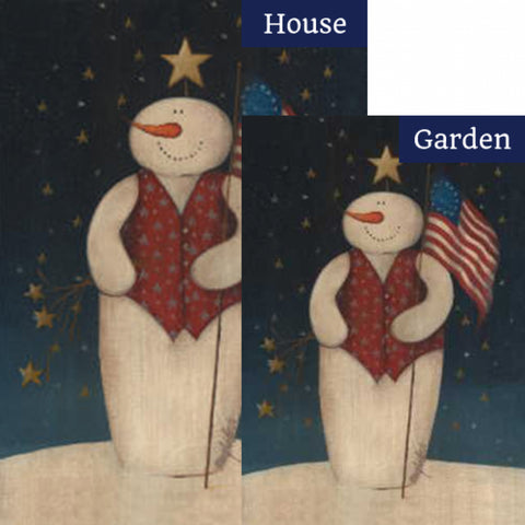 Flag Waving Snowman Flags Set (2 Pieces)