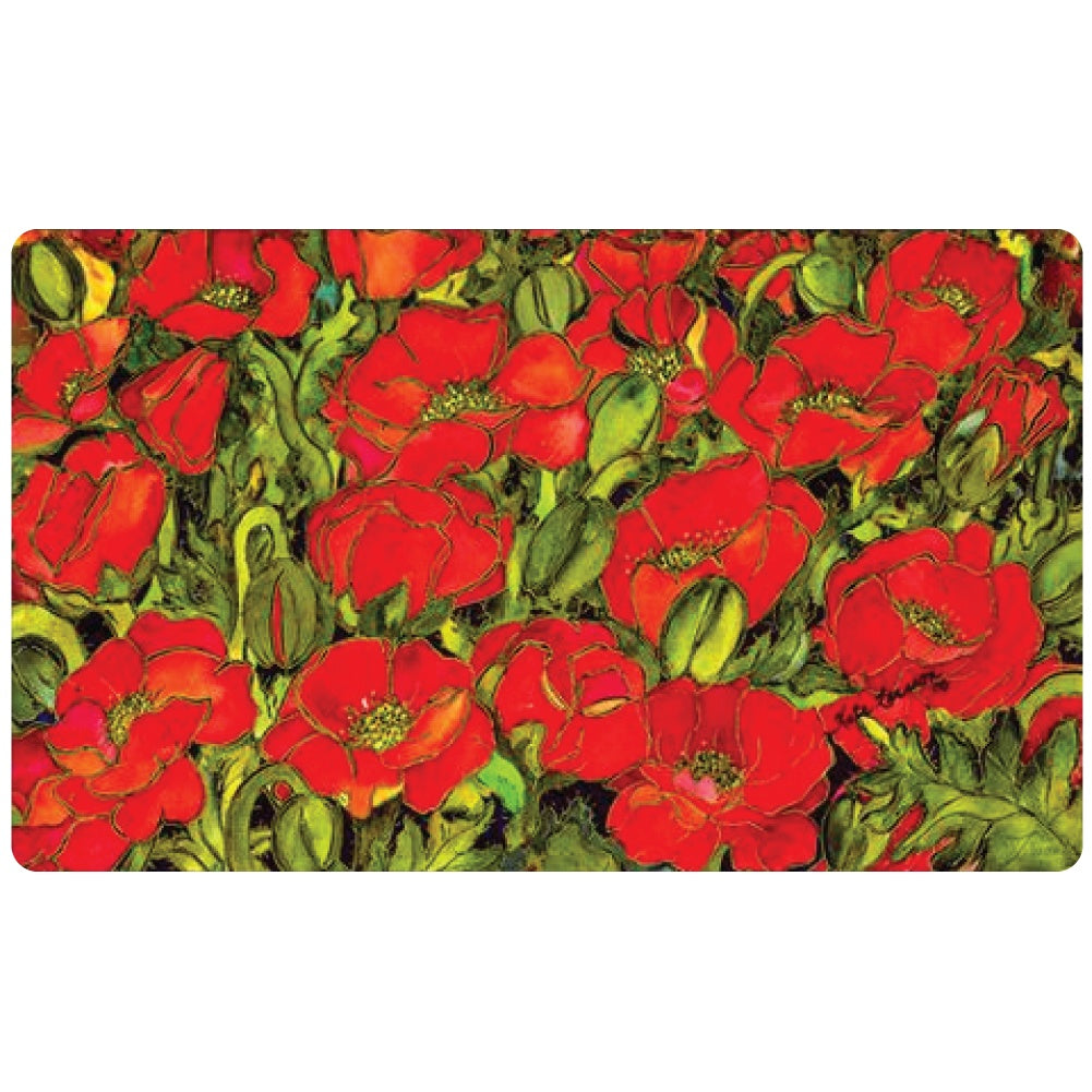 Red Poppies Doormat