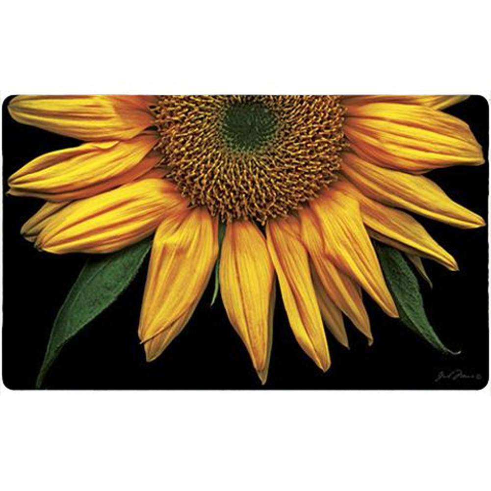 Sunflowers on Black Doormat