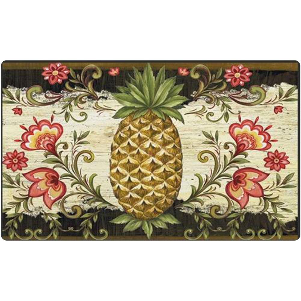 Pineapple & Scrolls Doormat