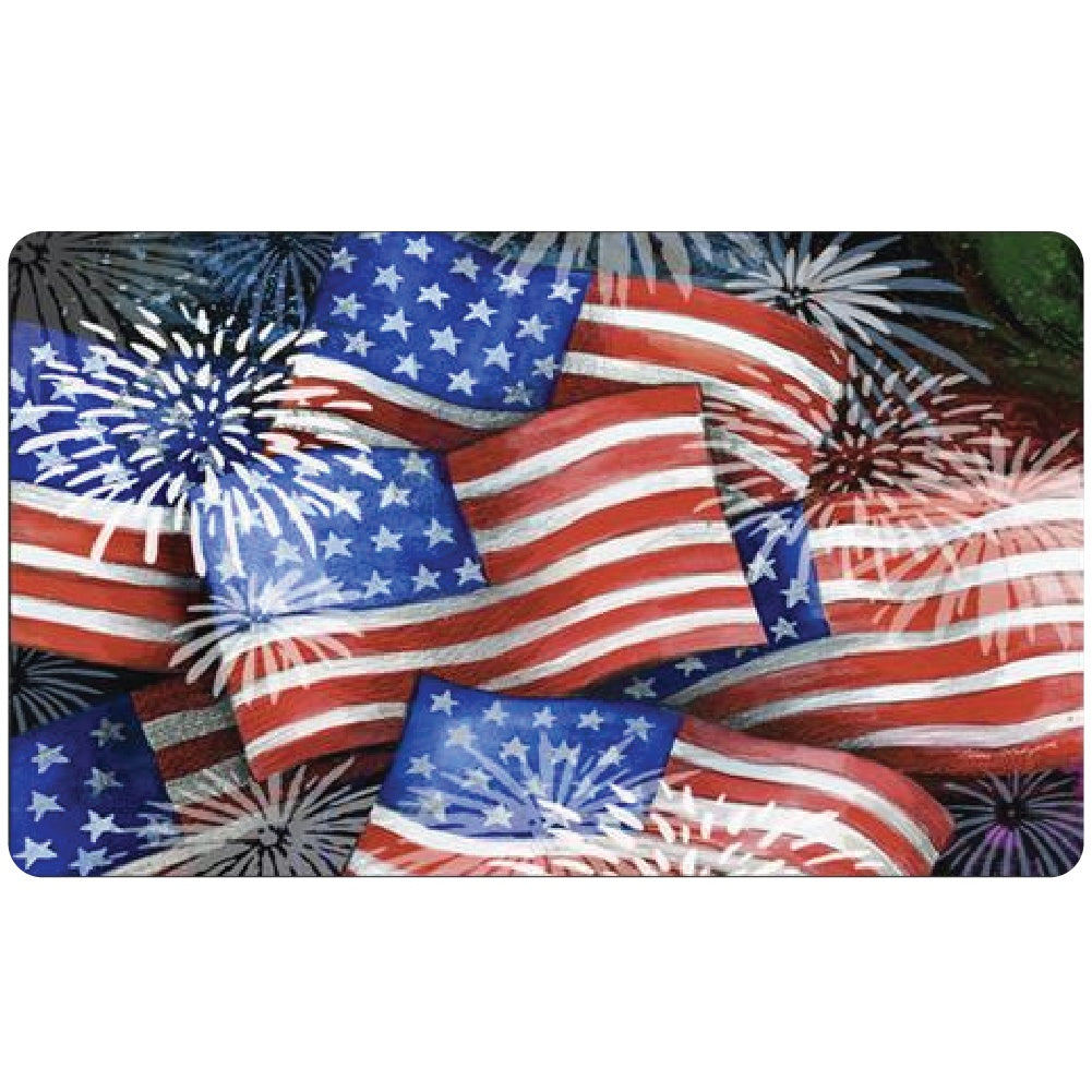 Sparkling Old Glory Doormat