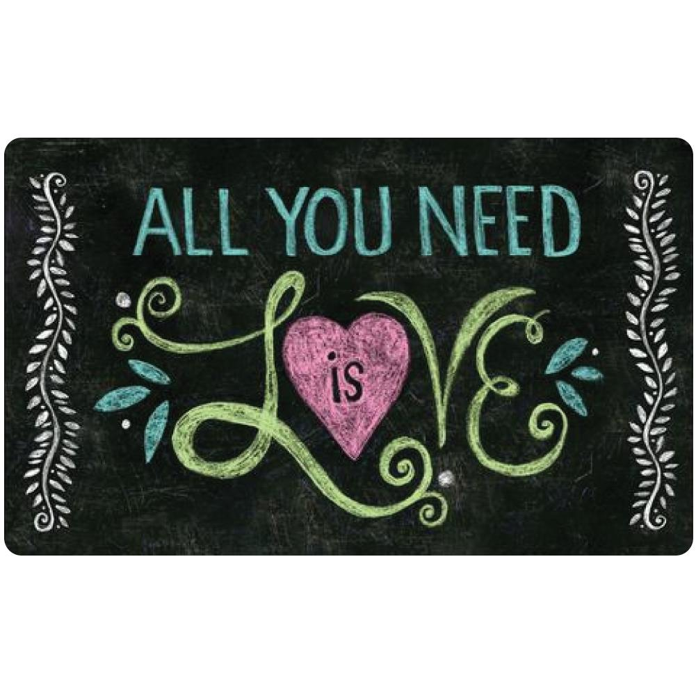 All You Need Is Love Chalkboard Doormat