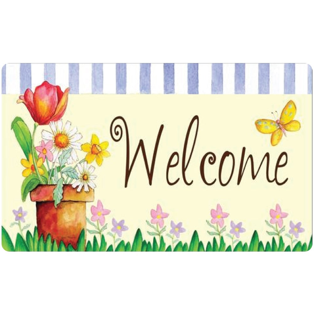 Potted Welcome Doormat