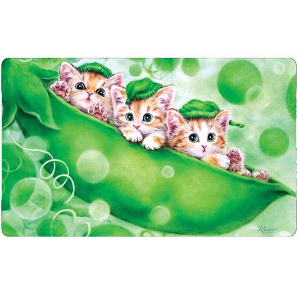 Kittens in a Pod Doormat