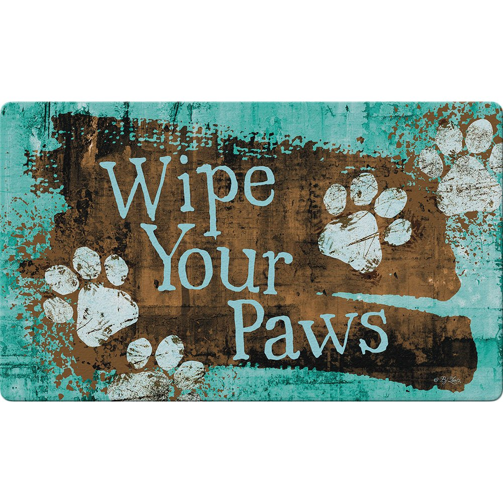 Turquoise Paws Doormat