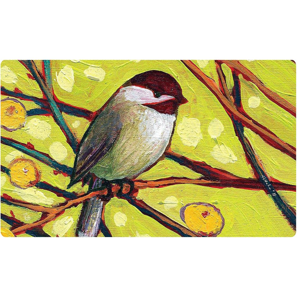 Chickadee Blossoms Doormat