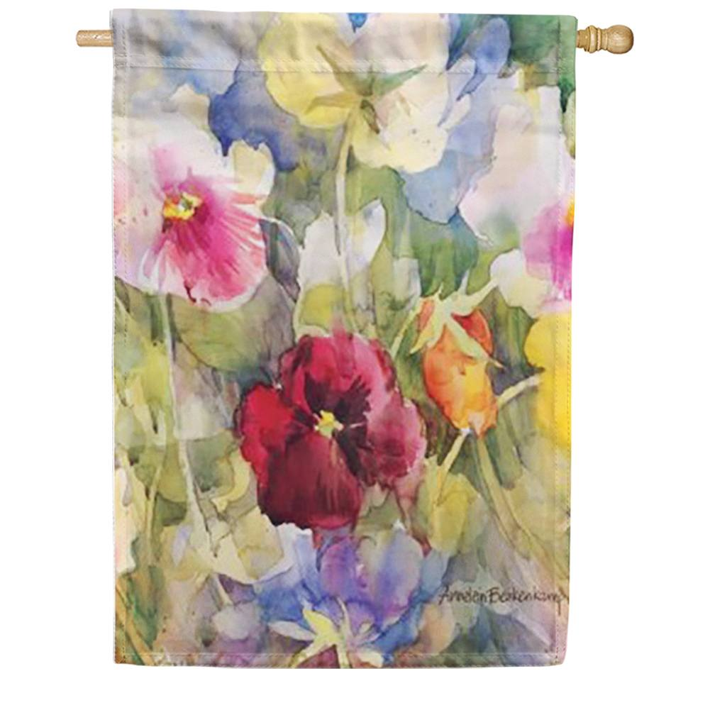Pansies Posing House Flag