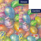 Easter Eggs Decorative Flags Set (2 Pieces)
