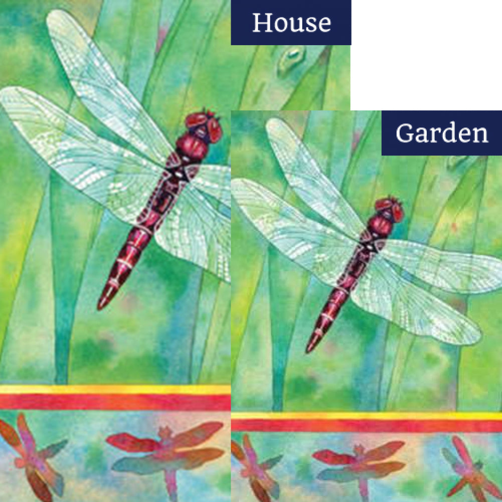 Dragonfly Double Sided Flags Set (2 Pieces)