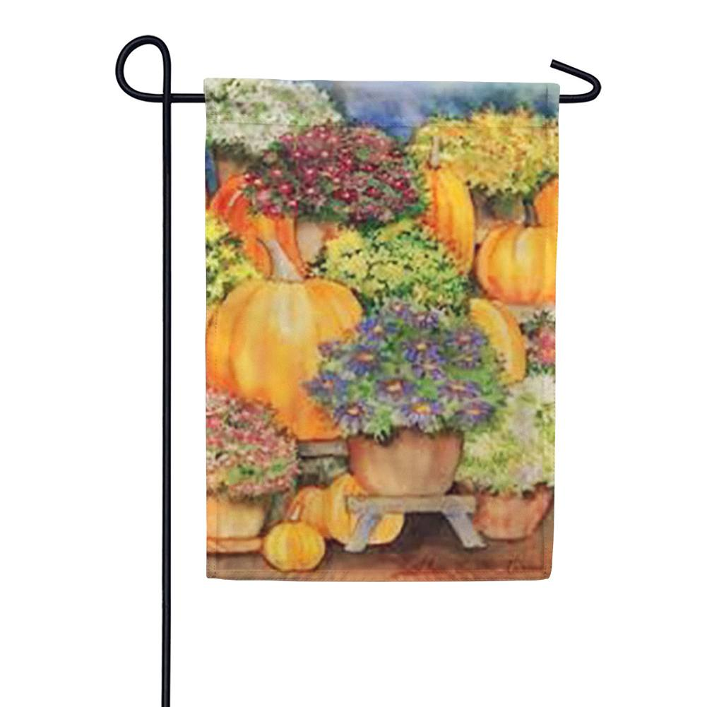 Pumpkins and Mums Garden Flag