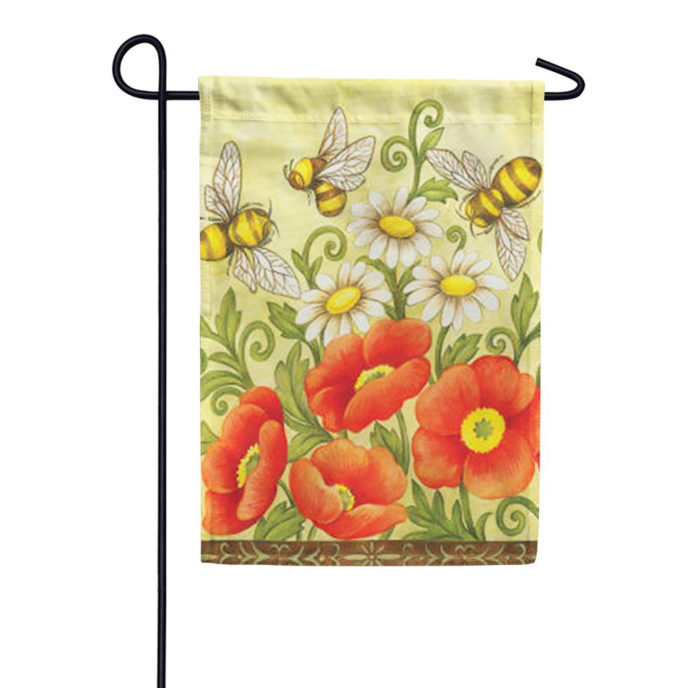 Bees and Wildflowers Garden Flag