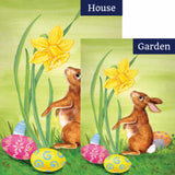 Bunny Daffodil Flags Set (2 Pieces)