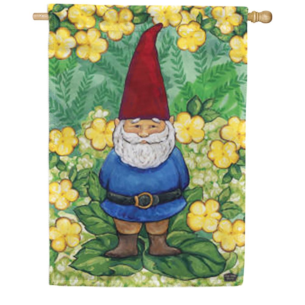 Garden Gnome House Flag