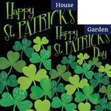 Shamrocks St. Patrick's Flags Set (2 Pieces)