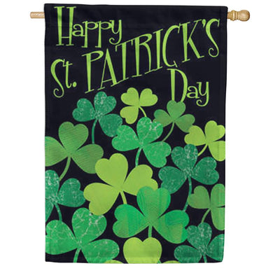 Shamrocks St. Patrick's House Flag