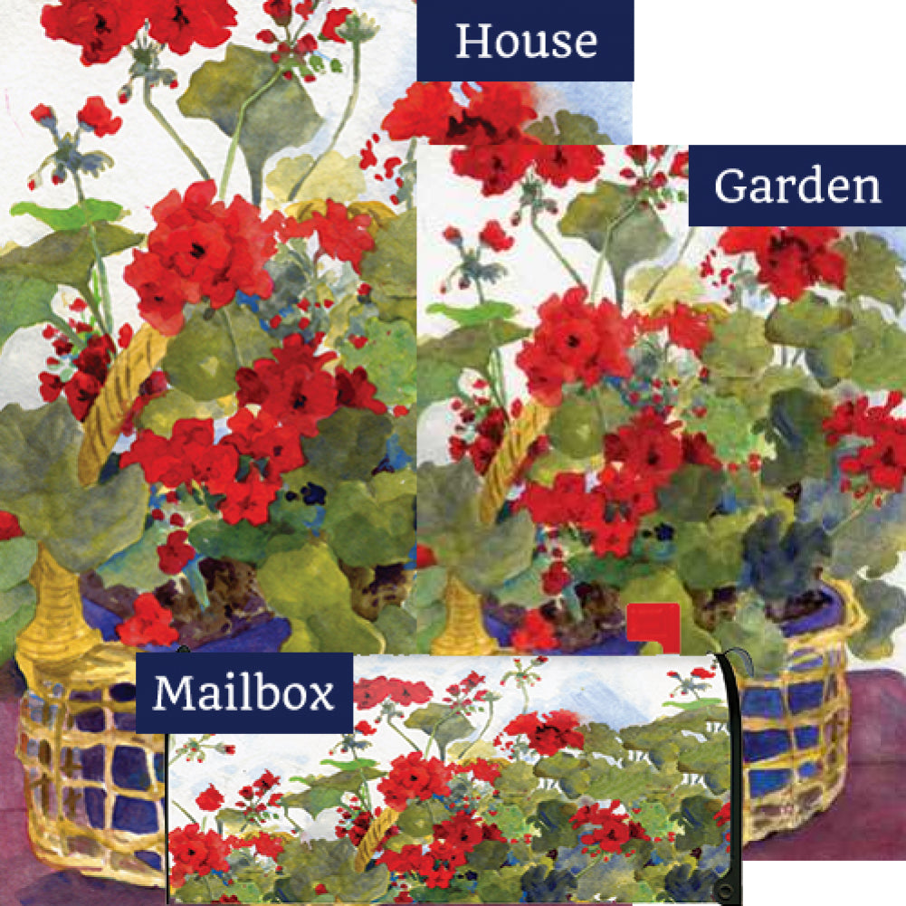 Geranium Basket Yard Makeover Set (3 Pieces)