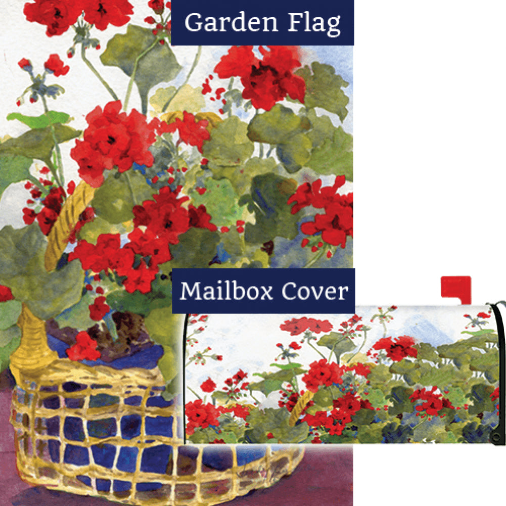 Geranium Basket Flag Mailwrap Set (2 Pieces)