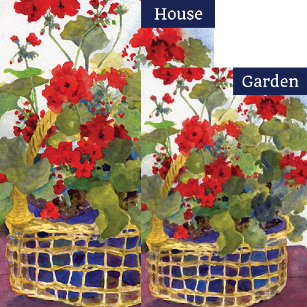 Geranium Basket Flags Set (2 Pieces)