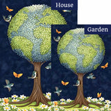 Earth Tree Flags Set (2 Pieces)