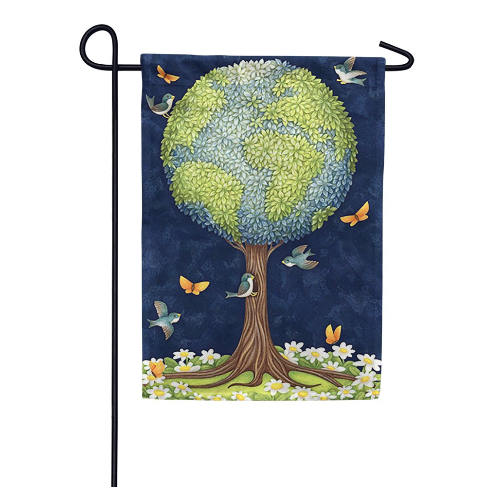 Earth Tree Garden Flag